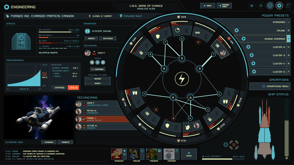 Engineering Spaceship UI