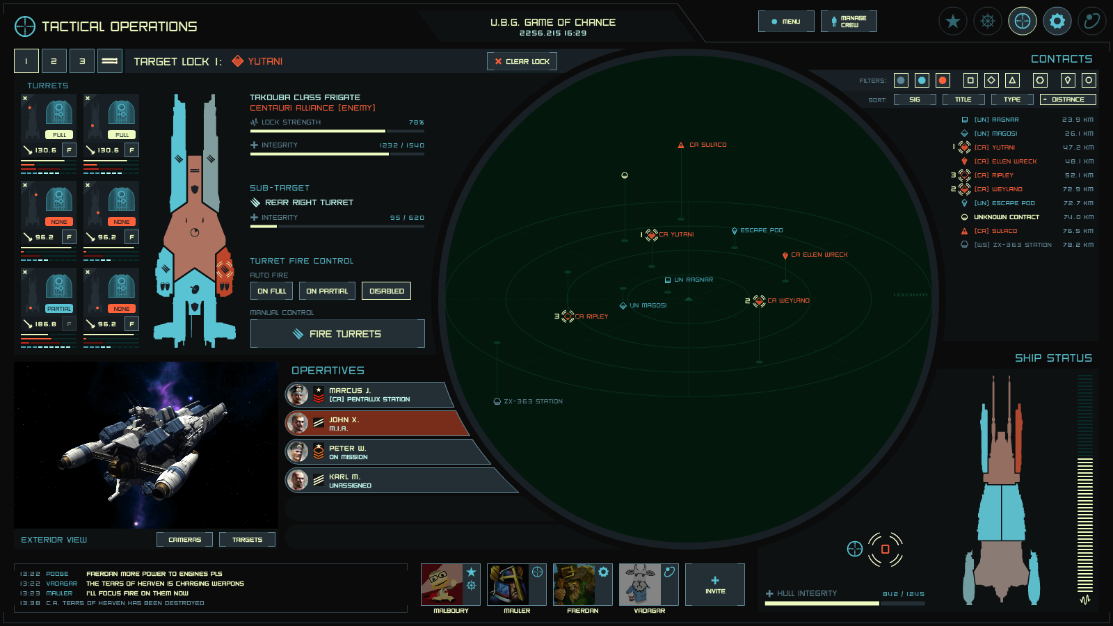 Tactical Spaceship UI